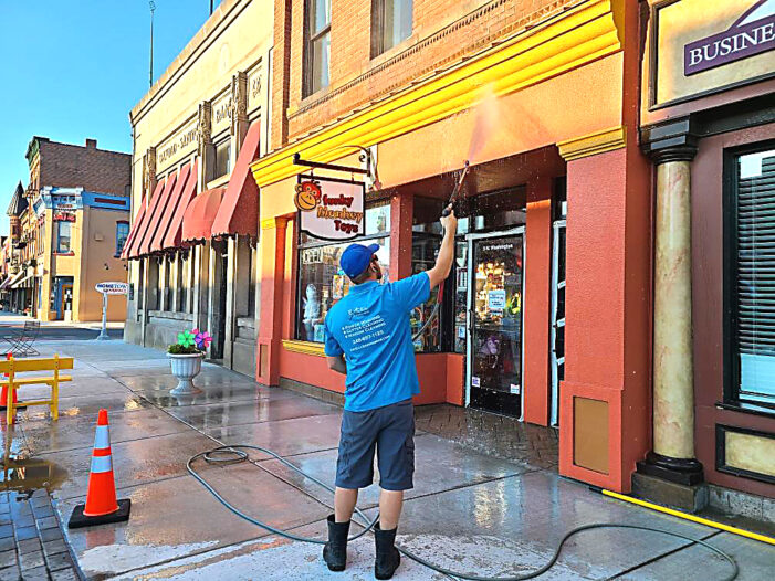 Excel Bros, DDA clean up downtown businesses after construction