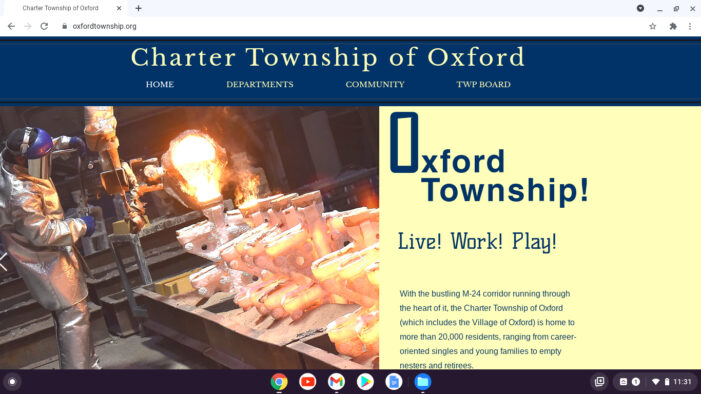 Oxford CTE students redesign  township website