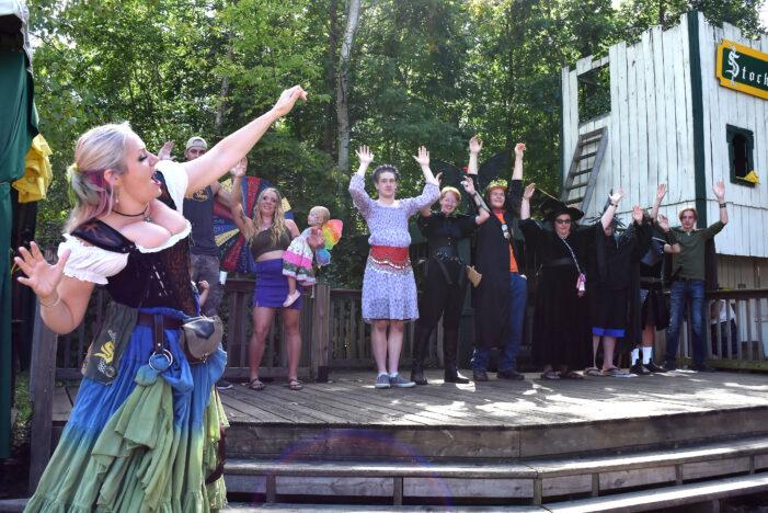 She runs the stockade at Renaissance Festival